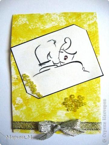 """Новая серия АТС """"Он и она"""" состоит из семи карточек. В работе использовала рисунки Тая Уилсона. фото 6"""
