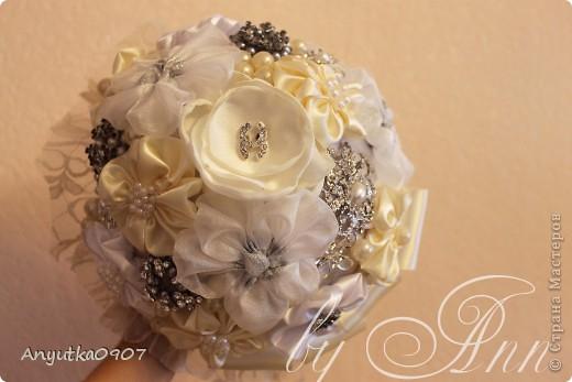 Свадебный букет из брошек фото 2