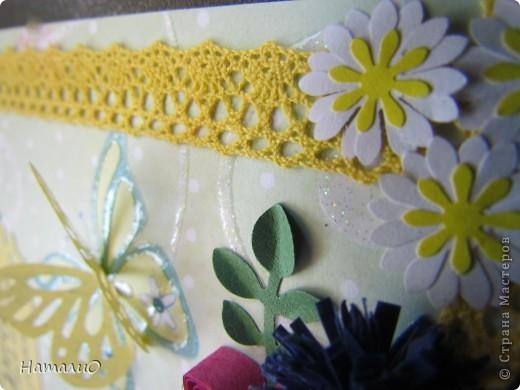 Здравствуйте, жители СМ! вчера у моей сестры был ДЕНЬ РОЖДЕНИЯ! и вот такую открыточку она получила в подарок! надпись взята у Марины Абрамовой http://marina-abramova.blogspot.com/ Попробовала сделать цветы в технике квиллинг... фото 4
