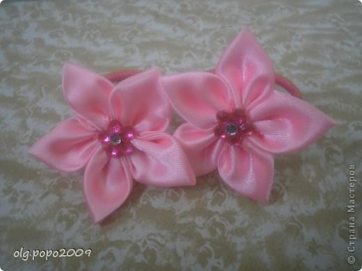 цветочки канзаши фото 1