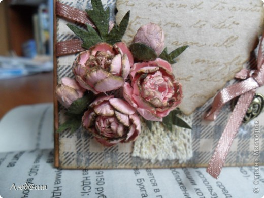 Винтажная открыточка с пионами. фото 4