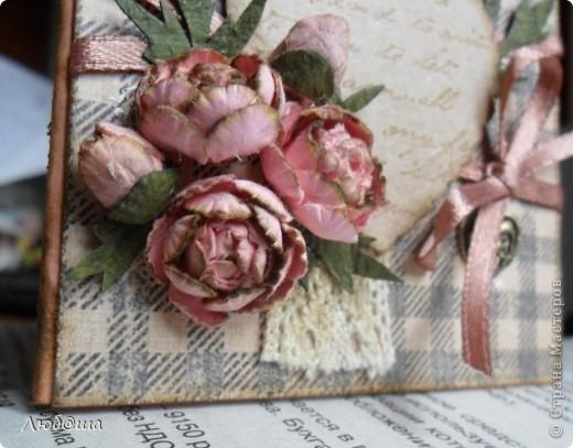 Винтажная открыточка с пионами. фото 2
