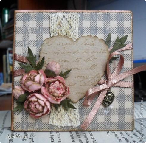 Винтажная открыточка с пионами. фото 1