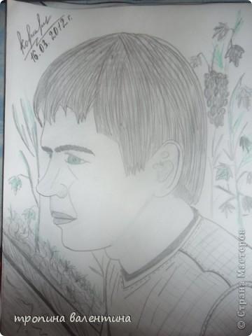 рисунок друга с фото фото 1