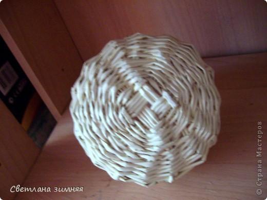 Грибок-шкатулка для мелочей.Мой первый опыт плетения по кругу.Ну и декупаж салфеткой,чтоб совсем страшно не выглядело. фото 4