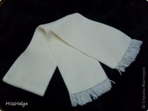 мужской классический шарф,из хлопковой мягкой пряжи фото 1