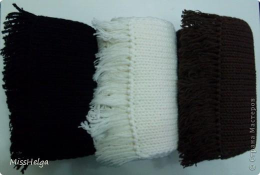 мужской классический шарф,из хлопковой мягкой пряжи фото 2