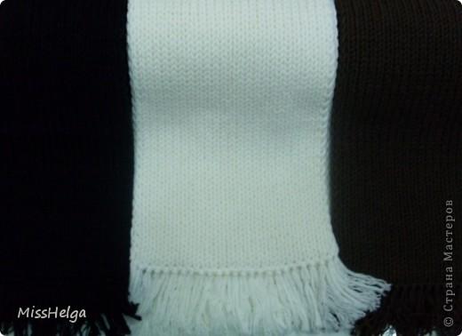 мужской классический шарф,из хлопковой мягкой пряжи фото 3