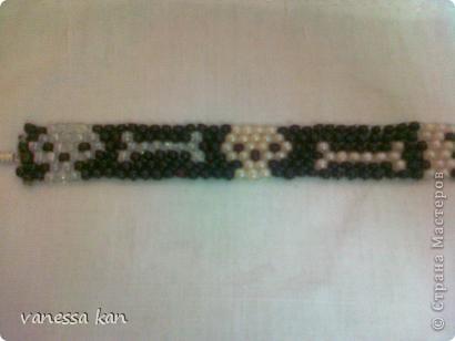 Бисероплетение Мозаичное плетение Браслет Скелеты Бисер фото 1.