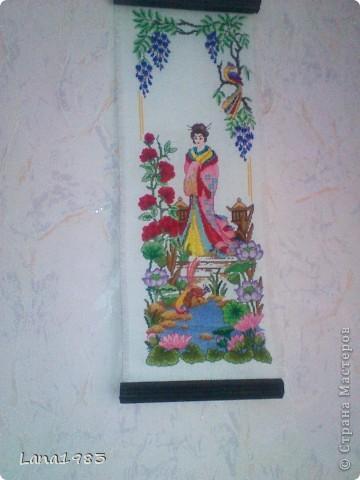 Это одна из первых моих работ, все цвета подбирала сама, сначала не очень удачно, но на лицо вроде подобрала самое то))), рамку делал муж фото 7