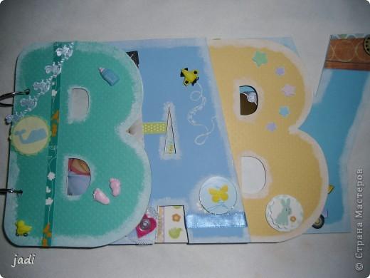Такой небольшой альбомчик подруге на рождение сыночка. фото 1