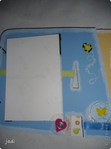 Такой небольшой альбомчик подруге на рождение сыночка. фото 3