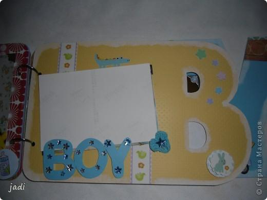 Такой небольшой альбомчик подруге на рождение сыночка. фото 5