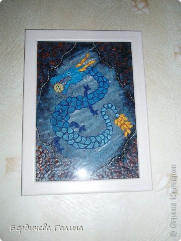Идея создания такого дракона принадлежит Анне http://stranamasterov.ru/node/271308 . Спасибо. Работа сделана на одном дыхании. Надеюсь желание, загаданное в Новогоднюю ночь, сбудется.