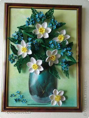Приветствую всех жителей страны!!! Здравствуйте , дорогие мастера и мастерицы!!!  У меня снова цветы. На этот раз нарциссы, правда немного запоздалые . Приглашаю всех вспомнить весну. буду рада всем, кто заглянет в гости. фото 2