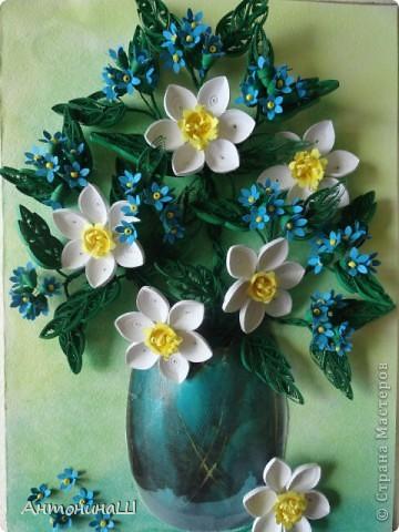 Приветствую всех жителей страны!!! Здравствуйте , дорогие мастера и мастерицы!!!  У меня снова цветы. На этот раз нарциссы, правда немного запоздалые . Приглашаю всех вспомнить весну. буду рада всем, кто заглянет в гости. фото 1