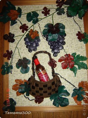 Это моя вторая картина  с виноградом, сделана  в подарок друзьям  проживающим в  Абхазии.  фото 1