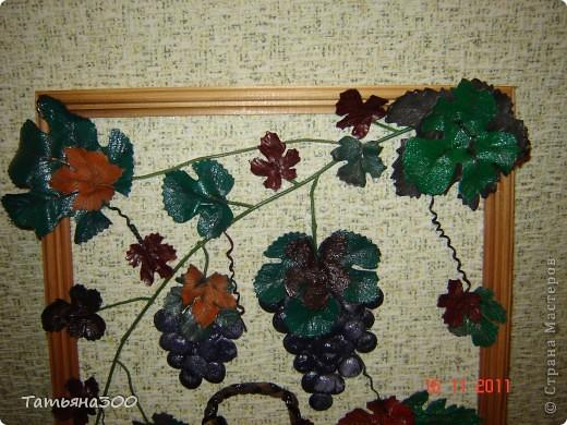 Это моя вторая картина  с виноградом, сделана  в подарок друзьям  проживающим в  Абхазии.  фото 2