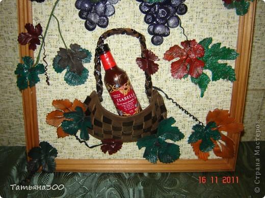 Это моя вторая картина  с виноградом, сделана  в подарок друзьям  проживающим в  Абхазии.  фото 3