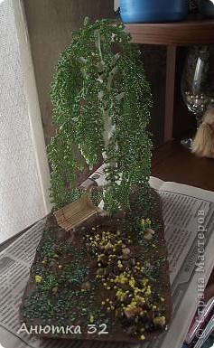 Здравствуйте, дорогие жители СМ. Если Вы не против, хочу немного похвастаться своими работами из бисера. Это мое последнее дерево, недавно закончила.  фото 5