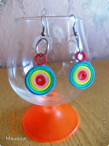 Радужные серьги для доченьки! фото 1