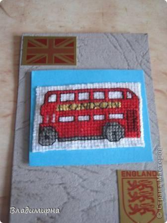Схема для вышивки лондонский автобус 2