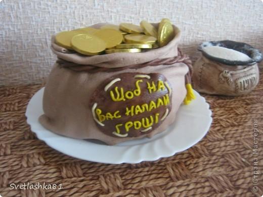 Вот он, мой первый мешок золота. Ушёл на день рождения хорошему человеку. Где-то читала, чтобы были деньги - их надо любить. Люблюююю!!! фото 2