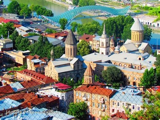 вид на р.Куру и Тбилиси со стен старинной крепости фото 10