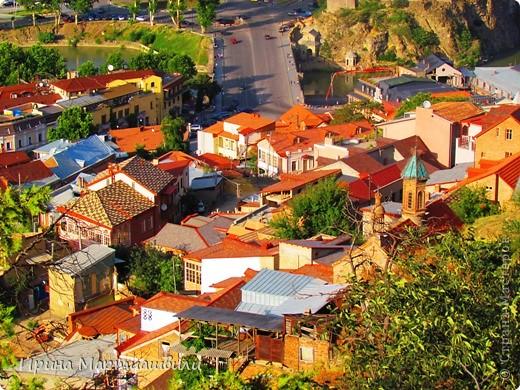 вид на р.Куру и Тбилиси со стен старинной крепости фото 15