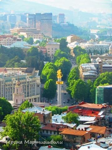 вид на р.Куру и Тбилиси со стен старинной крепости фото 16
