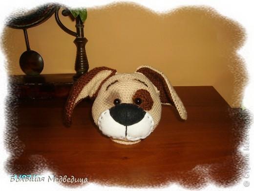 Всем привет! В пару к зайцу Муфуне наш домашний кукольный театр прирос вот таким песиком Тимошкой. Почему именно собачка? Да потому что в настоящее время это самое любимое животное ребенка. Прям с ума сходит по собачкам всех мастей.:-) фото 4