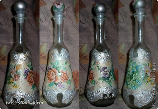 Наконец-то я оформила эту бутылку, думаю и собираюсь очень долго. Теперь я понимаю кто такая муза. фото 2