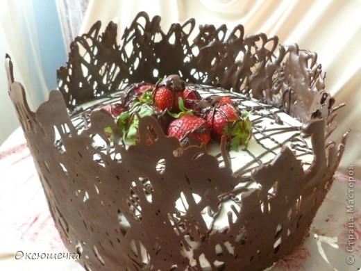 """Торт ,,Клубника в шоколаде"""" фото 1"""