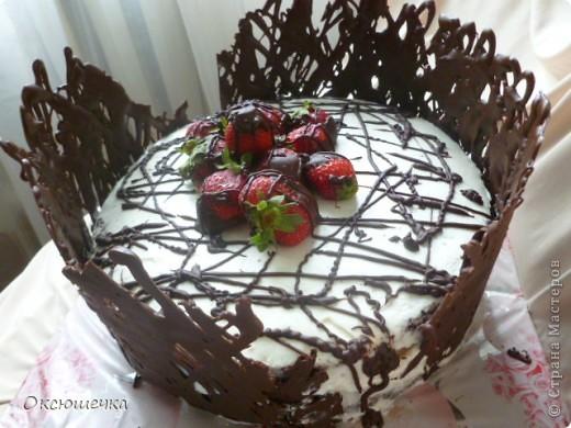 """Торт ,,Клубника в шоколаде"""" фото 2"""