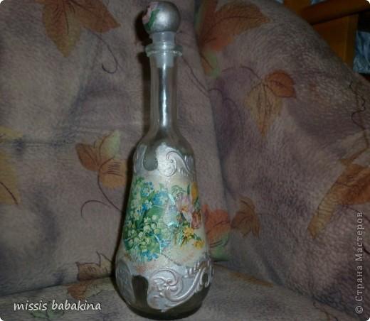 Наконец-то я оформила эту бутылку, думаю и собираюсь очень долго. Теперь я понимаю кто такая муза. фото 6
