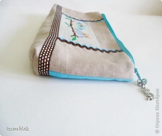 """Не могу остановиться, вышиваю совушек :)) Так и появилась эта косметичка, подходящая к сумке """"Совушки""""(http://stranamasterov.ru/node/377993)  фото 4"""