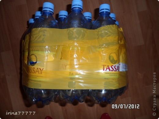 Пуфик своими руками из пластиковых бутылок мастер