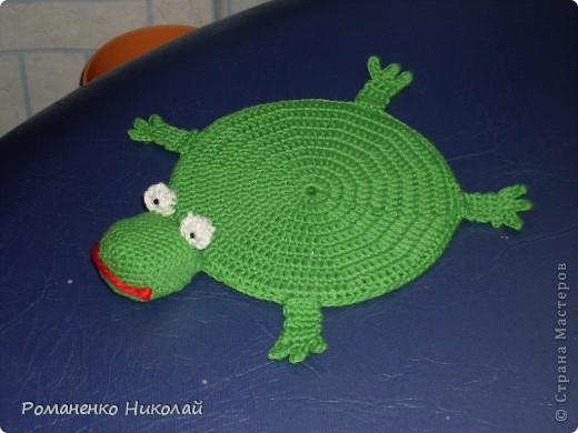 Вязание крючком Лягушка