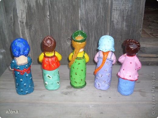 Мои пять кукол. Еще имеются две, только просохнуть что-то не могут.Как доделаю, сразу выложу. фото 5