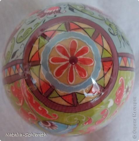 Яйцо выполнено в Борецкой росписи. Яйцо двустороннее-на каждой из половинок свое,но связанное общим замыслом,изображение. фото 2