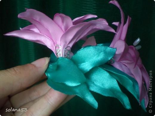 первый опыт:лилии и резиночка фото 2