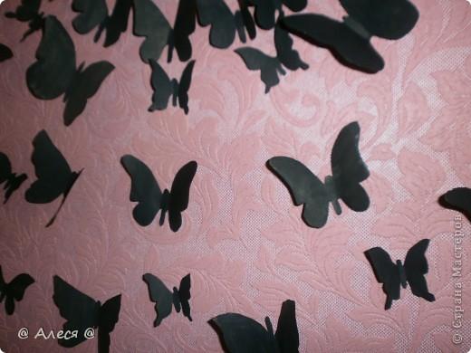 Бабочки на стене фото 3