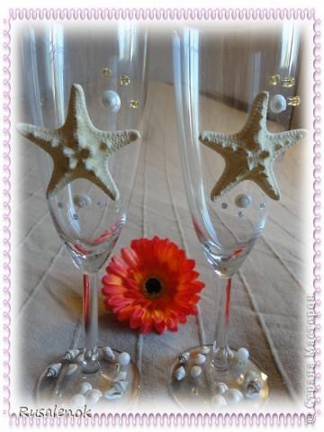 Фужеры на свадьбу с морской темтикой фото 3