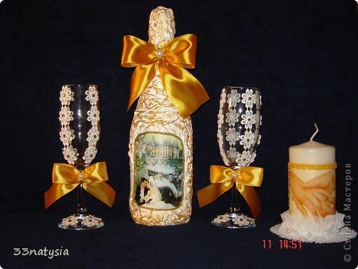 доброго дня вам дорогие мастерицы! у моей племяшки 14 июля свадьба и я вот решила сделать ей подарок это мой первый свадебный набор очень надеюсь ей понравится!  фото 1