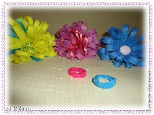 Цветы из фетра (резиночки))) фото 3