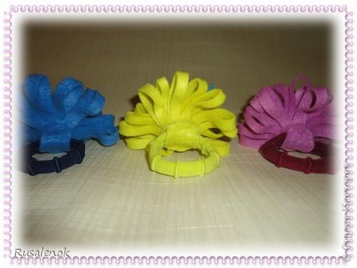 Цветы из фетра (резиночки))) фото 4