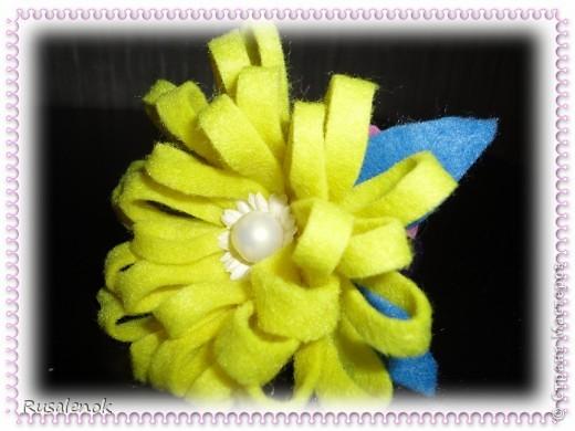 Цветы из фетра (резиночки))) фото 5