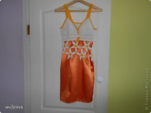 Не люблю халаты,  поэтому связала платье чтобы носить дома.