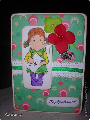 первой покажу свою самую любимую... цветочки самодельные,тычинки внутри тоже,как и бумага с брызгами)  фото 2