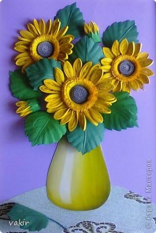 Всем доброго времени суток! Сегодня у меня расцвели подсолнухи! Давно уже облизывалась, любуясь подсолнухами мастериц! Наконец, вырастила и свои в подарок родственнице, замечательному светлоу человеку, которая тоже очень любит эти солнечные цветы. Сразу же приношу извинения за некоторые не очень качественные фото, выполненные с помощью мобильного, на них искажены цвета. фото 1